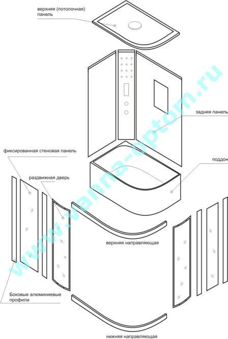 инструкция по сборке душевой кабины нх 411 в