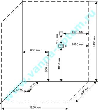 электрическая схема душевой кабины