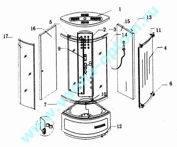 инструкция по монтажу и эксплуатации душевой кабины img-1